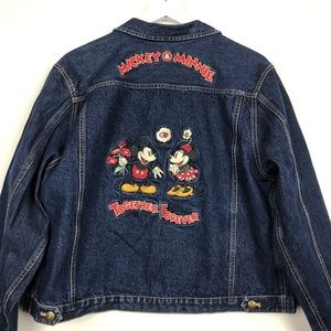 Disney Store Mickey and Minnie Trucker Jean Jacket